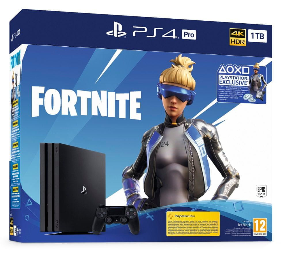 Sony PlayStation 4 Pro - 1 TB + balíček Fortnite, (PS719941101)