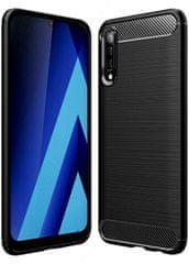 Silikonski ovitek za Samsung Galaxy A50 A505, karbonsko črn, matiran