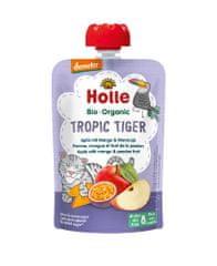 Holle Bio Tropic Tiger 100% ovocné pyré jablko mango maracuja - 6 x 100g
