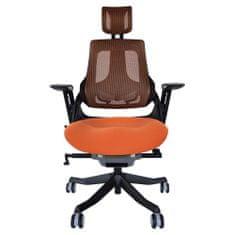 Ergovision iTrek pisarniški stol 04 (BH22BA-MMA-FMA), oranžen/siv