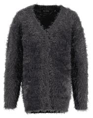 Blue Seven dekliški puhast pulover, siva, 98
