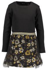 Blue Seven dekliška oblekica s cvetličnim vzorcem, 92, črna