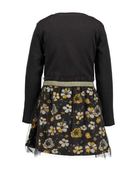 Blue Seven dekliška obleka s cvetličnim vzorcem