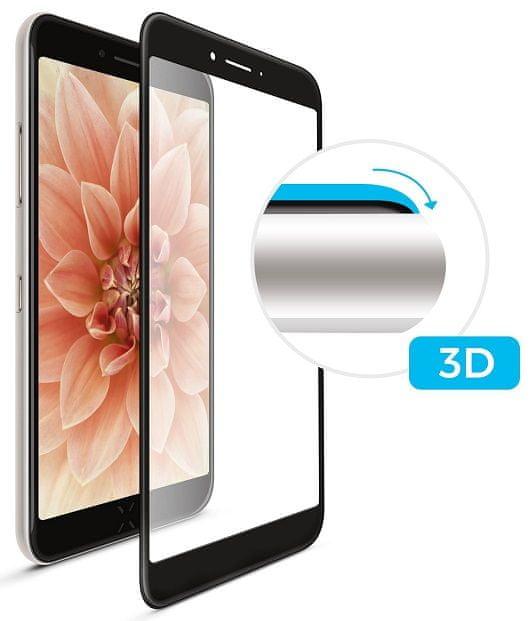 Fixed Ochranné tvrzené sklo 3D Full-Cover pro Samsung Galaxy A40, lepení přes celý displej, černé FIXG3D-400-BK