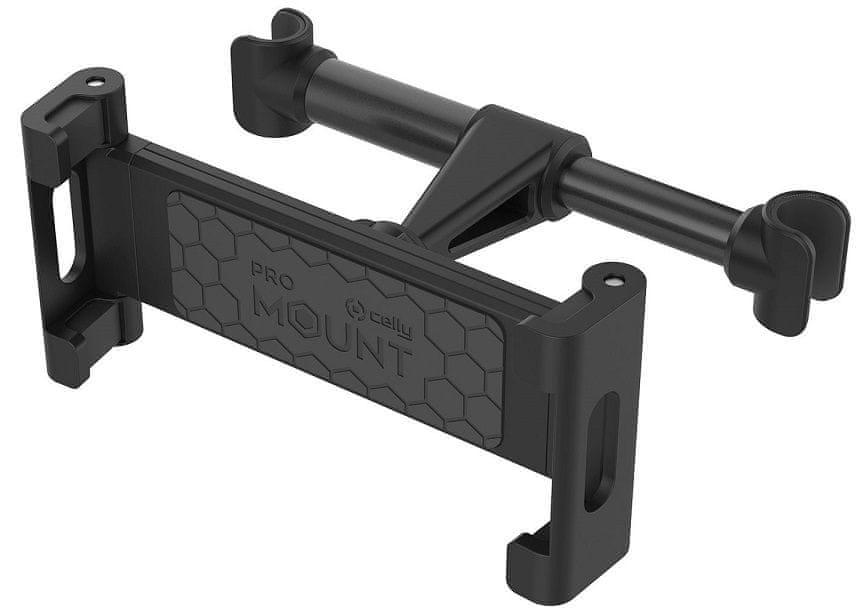 Celly Univerzální držák tabletu s uchycením do opěrky sedadla Mount Back Tab, černý MOUNTBACKTABBK