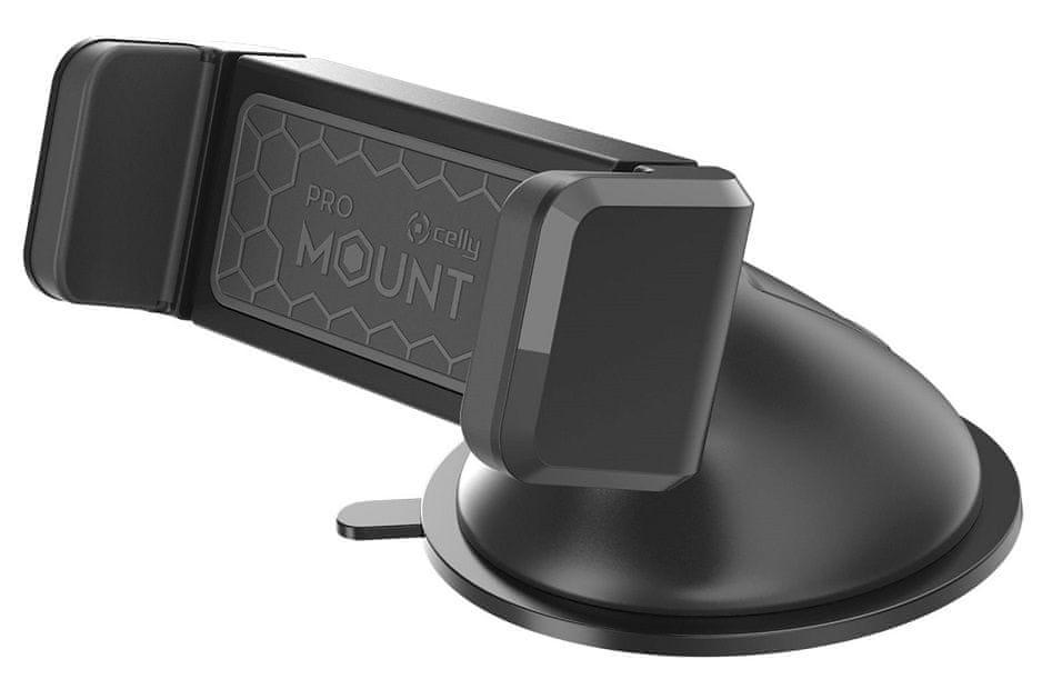 Celly Univerzální držák mobilního telefonu na palubní desku Mount Dash, černý MOUNTDASHBK