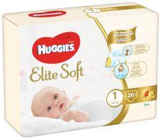 Huggies Elite Soft 1 Newborn (3-5 kg) 26 ks