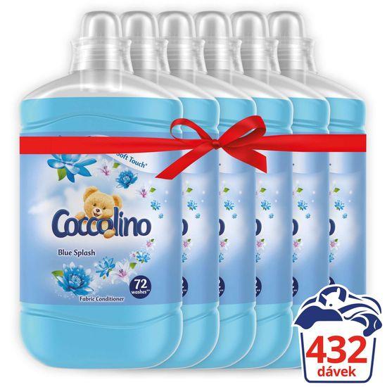 Coccolino Blue Splash omekšivač, 6x 1,8 L