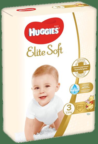 Huggies Elite Soft 3 (5-9 kg) 80 ks