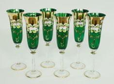 Bohemia Glass  Kozarec za šampanjec 190 ml - zelena