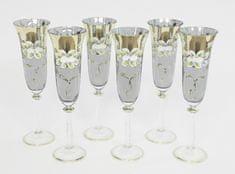 Bohemia Glass  Kozarec za šampanjec 190 ml - bela