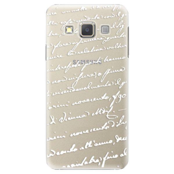 iSaprio Plastový kryt - Handwriting 01 - white pro Samsung Galaxy A7