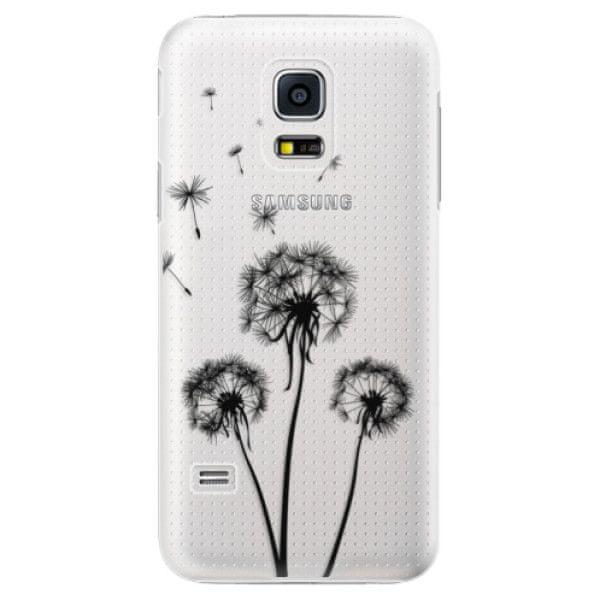 iSaprio Plastový kryt - Three Dandelions - black pro Samsung Galaxy S5 Mini