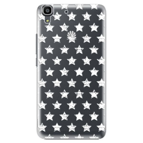 iSaprio Plastový kryt - Stars Pattern - white pro Huawei Y6