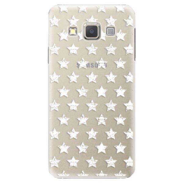 iSaprio Plastový kryt - Stars Pattern - white pro Samsung Galaxy A7