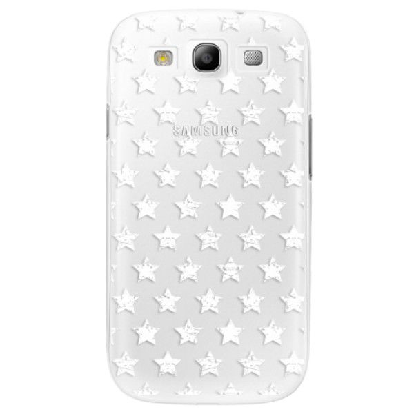 iSaprio Plastový kryt - Stars Pattern - white pro Samsung Galaxy S3