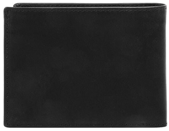 BUGATTI Męski portfel skórzany Romano 49399401 Black