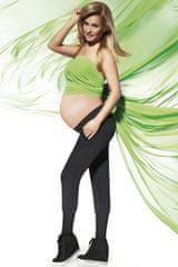Bas Bleu Těhotenské legíny Veronica, černá, XXL