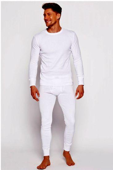 Henderson Férfi hosszú alsónadrág 4862 J1 white + Nőin zokni Gatta Calzino Strech