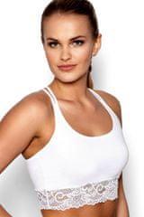 Eldar Fitness top Aurora white, biela, S