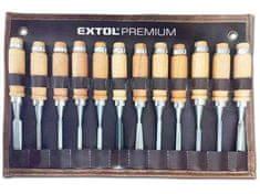 Extol Premium Dláta řezbářská, sada 12ks, délka 200 mm, CrV