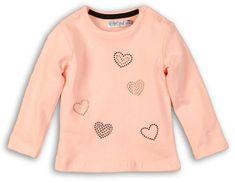 Dirkje dekliška majica s srcem, roza, 68
