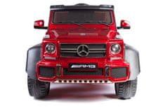Beneo Elektrické autíčko Mercedes-Benz G63 6X6, červené Lakované, LCD obrazovka, 6 Kolies, Podsvietené kol