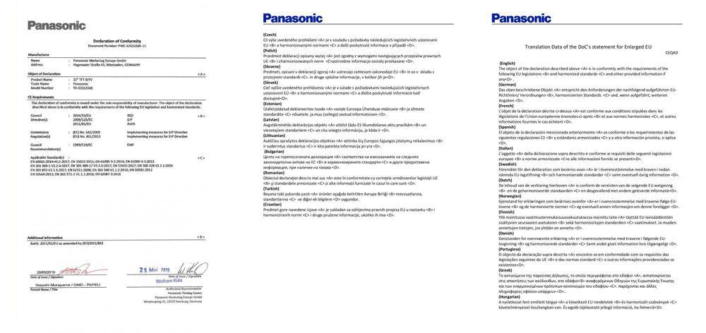 Panasonic TX-32GS350E