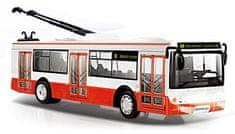 Rappa Trolejbus hlási zastávky česky s funkčnými dverami, 28 cm
