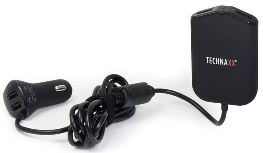 Technaxx Rodinná nabíječka do auta 4× USB (max. 2,4 A), (TE14) 4708