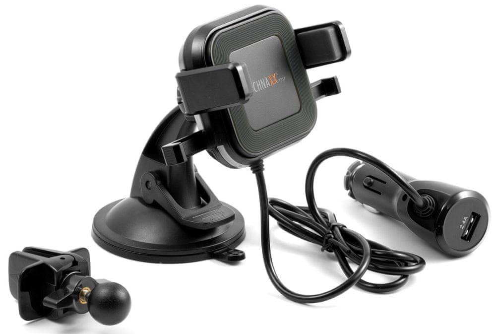 Technaxx Bezdrátová nabíječka do auta s držákem na smartphone, 10 W, TE17 4780