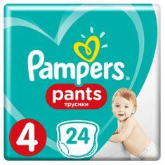 Pampers hlačne plenice Pants 4 (9-15 kg) Carry Pack 24 kosov