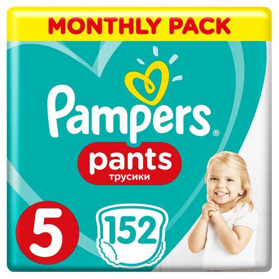 Pampers hlačne plenice Pants 5 (12-17 kg) 152 kosov - Mesečno pakiranje