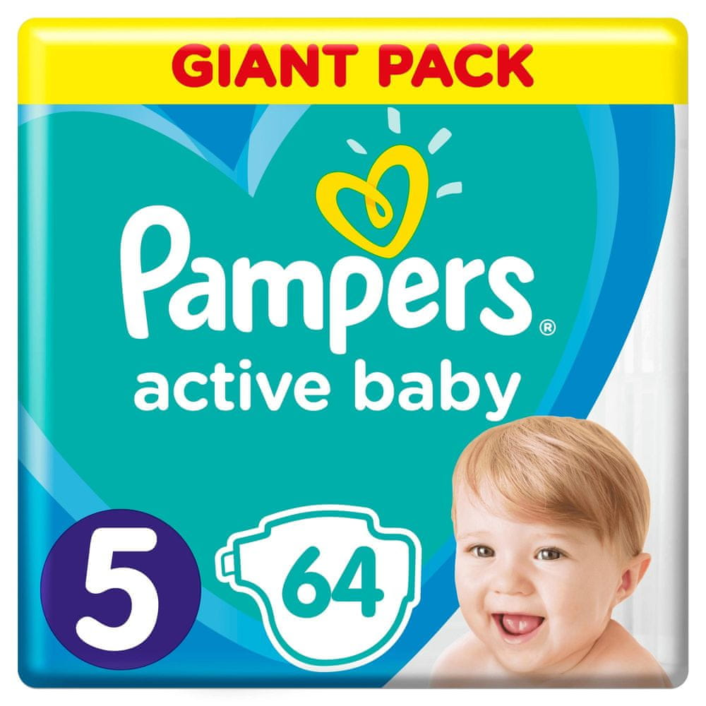 Pampers Pleny Active Baby 5 Junior (11-16 kg) Giant Pack 64 ks