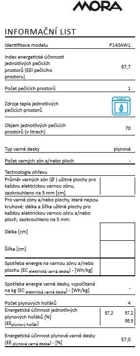 Mora P 140 AW1