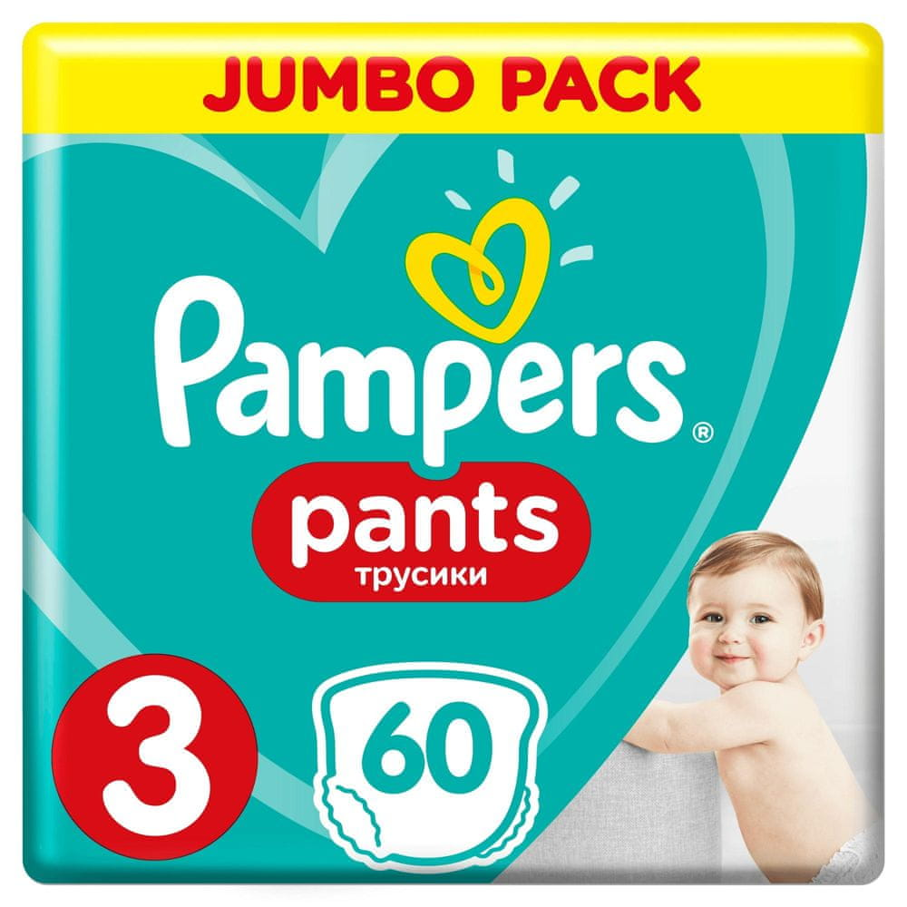 Pampers Plenkové kalhotky Pants 3 Midi (6-11 kg) Jumbo Pack 60 ks