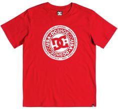 DC koszulka chłopięca Circle Star 170 czerwony
