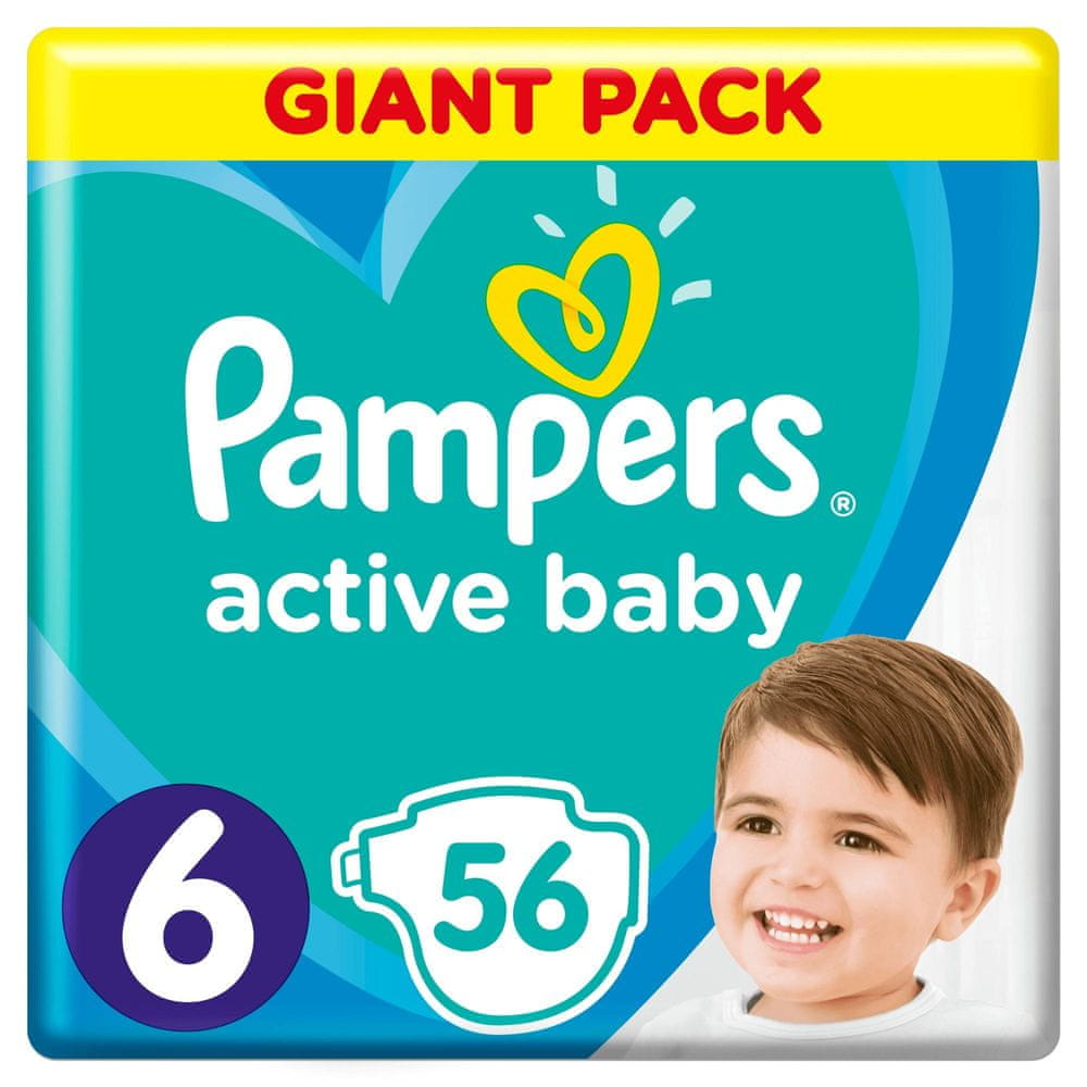 Pampers Pleny Active Baby 6 Extra Large (13-18 kg) Giant Pack 56 ks