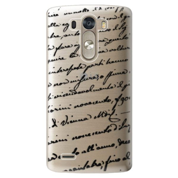 iSaprio Plastový kryt - Handwriting 01 - black pro LG G3