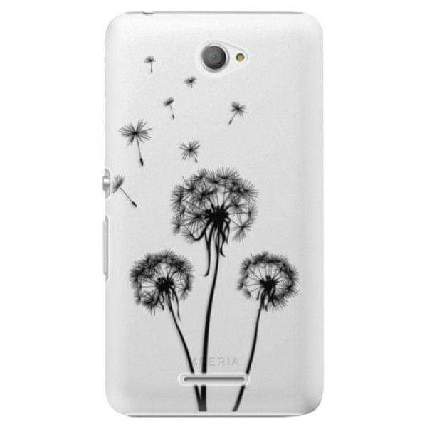 iSaprio Plastový kryt - Three Dandelions - black pro Sony Xperia E4