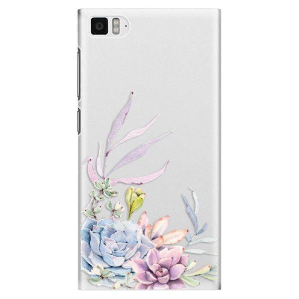 iSaprio Plastový kryt - Succulent 01 pro Xiaomi Mi3