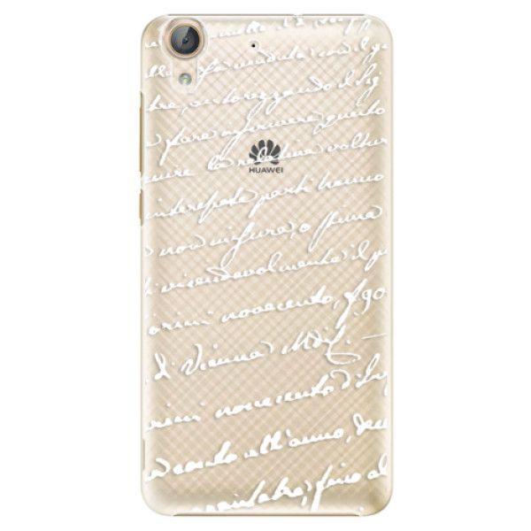 iSaprio Plastový kryt - Handwriting 01 - white pro Huawei Y6 II
