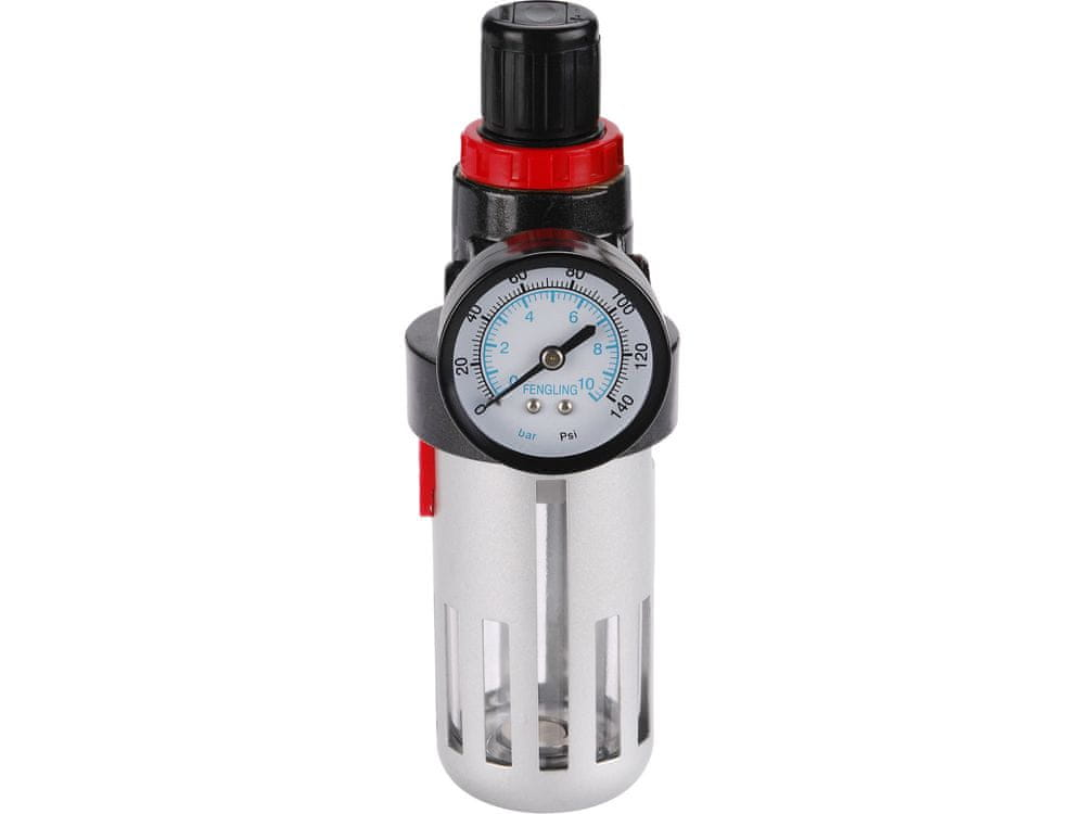 EXTOL PREMIUM Regulátor tlaku s filtrem a manometrem max. prac. tlak 8bar (0,8MPa)