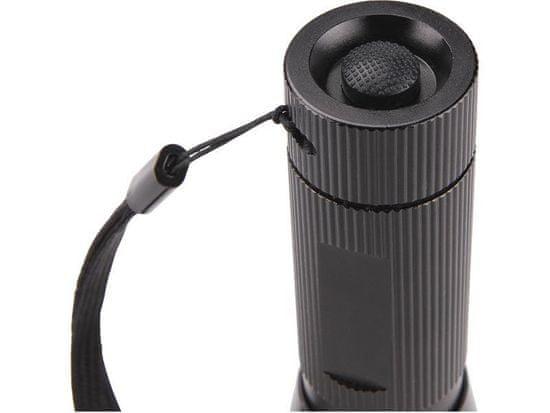 Extol Light Svítilna 3W CREE LED s držákem na kolo, dosvit až 100m, funkce ZOOM