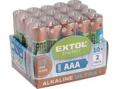 Extol Light Baterie alkalické EXTOL ENERGY ULTRA +, 20ks, 1,5V AA (LR6)