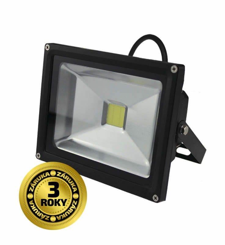 Solight Solight LED venkovní reflektor, 20W, 1600lm, AC 230V, černá WM-20W-E