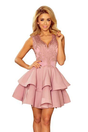 Numoco Női ruha 200-10, púder rózsaszín, XL