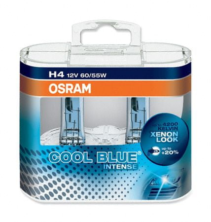 Osram OSRAM H4 cool blue INTENSE 64193CBI-HCB 60/55W 12V duobox