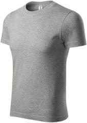 Piccolio Tmavěšedé melírové tričko vyšší gramáže