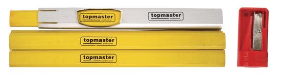Topmaster svinčnik, tesarski, 9-delni, 7x, 175mm + šilček + držalo
